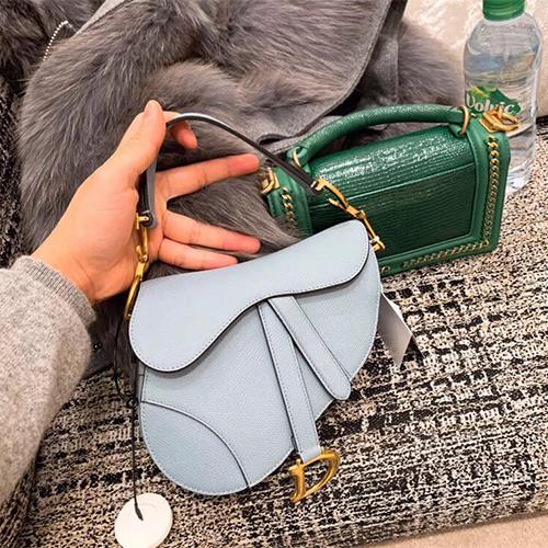 Dior Saddle小牛皮手提包,专柜同款顶级一比一高仿马鞍包