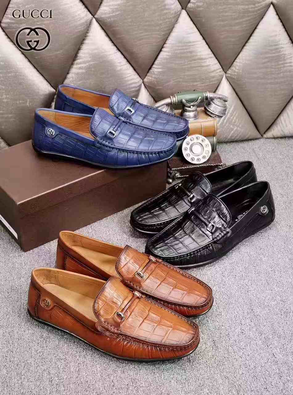 广州奢侈品大牌真皮休闲时尚豆豆男鞋一件代发免费招代理