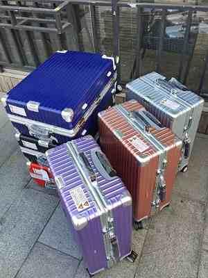 高仿日默瓦拉杆箱蓝色箱系列